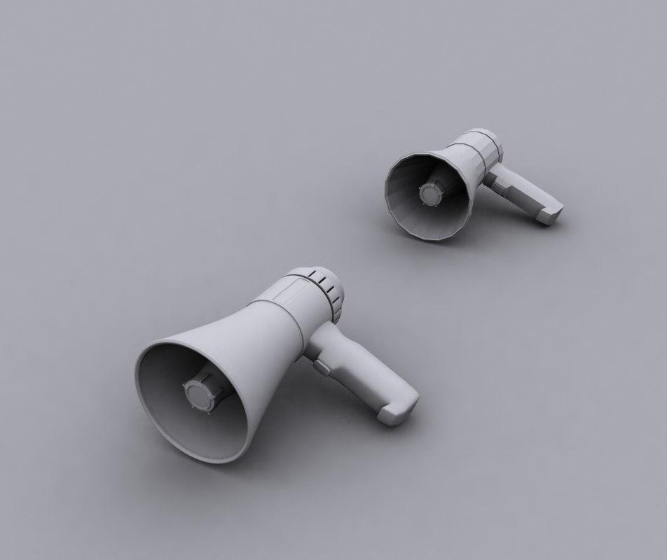 megaphone phone 3d model