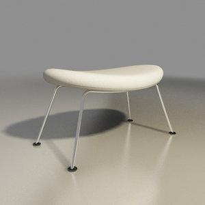 3d model artifort chair orange slice