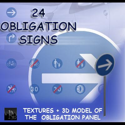 duty signs 24 3d model