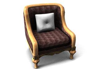 ottoman sofa furniture 3d max