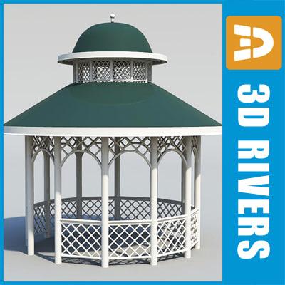 3d model garden pavilion