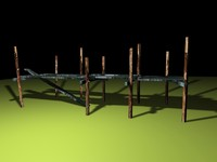 broken pier bridge 3d 3ds