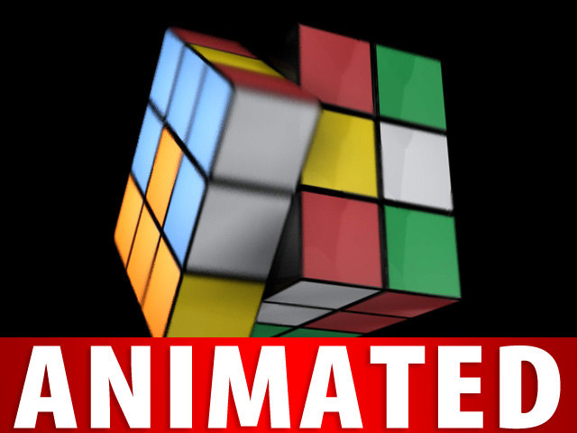 3d magic cube animation model