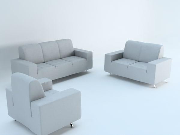 3ds max sofas sillones