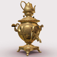 copper samovar 3d ma