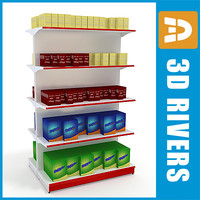 3d double-sided hair dye shelving model