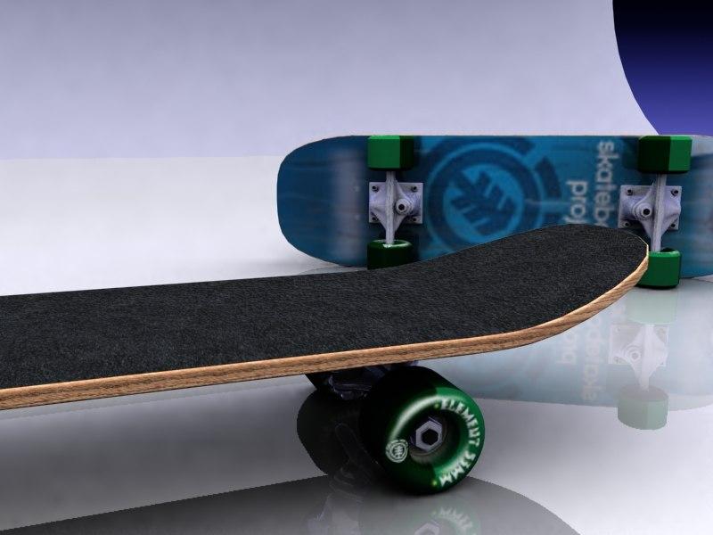 3d model skateboard skate