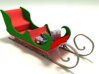 snow sleigh 3d max