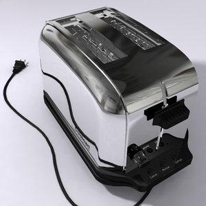 toaster toast 3d model