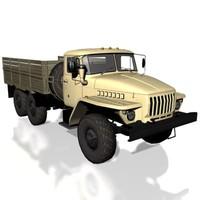 3d model ural-4320 soviet universal