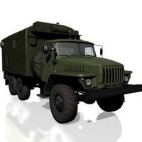 ural-4320 soviet military 3d max
