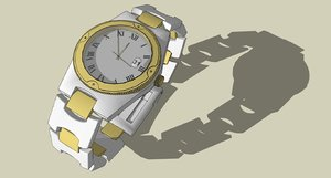 3d watch time heure