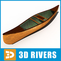 Wooden canoe by 3DRivers