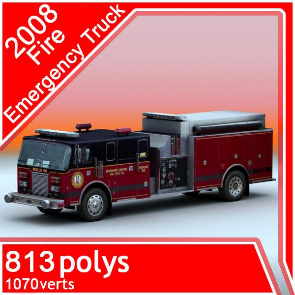 2008 emergency truck 3ds