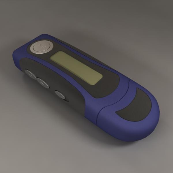 mp3 pen 3d model