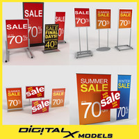 3d model store signage signs
