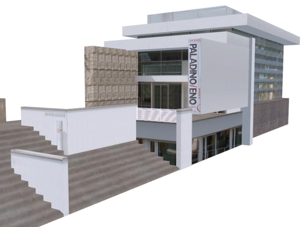 3d model contemporary building structure