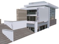 3d model contemporary building structure