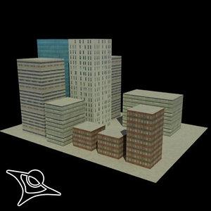 free x model buildings polys
