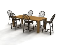 Broyhill dining set - High Quality Furniture 3d model