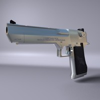 3d model iwi pistol desert eagle