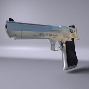 3d model iwi pistol desert eagle