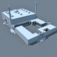 3d mosque arabic middle model