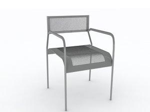 mesh chair interior furniture 3d model