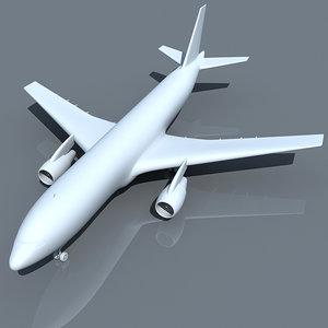 3d airbus 300 model