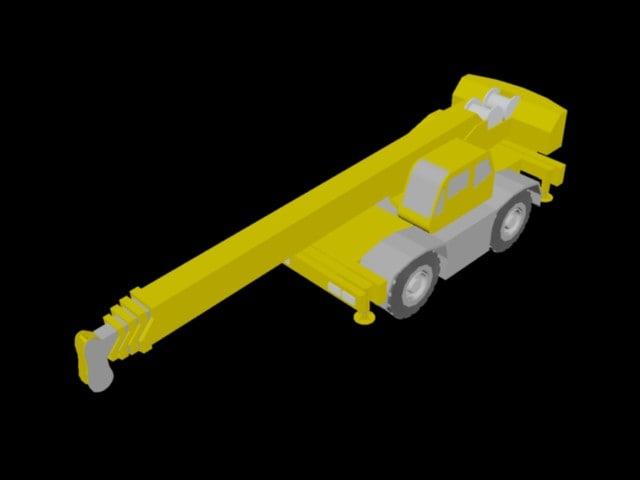 3d model of crane tanado