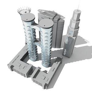 maya 5 buildings