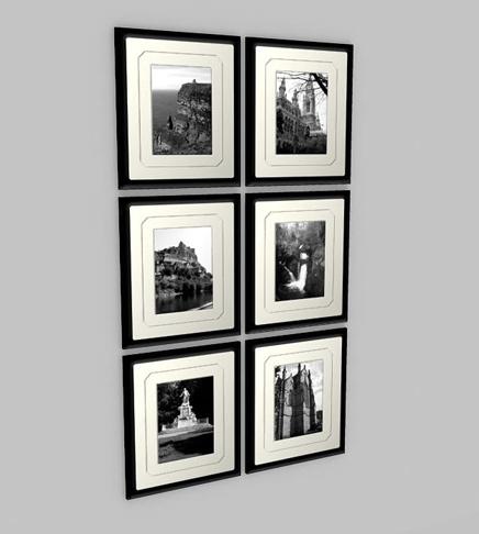 3ds max frame photos walls