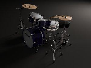 3ds max drum kit