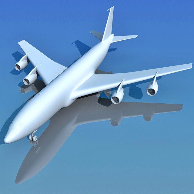 3d model of airbus b 707