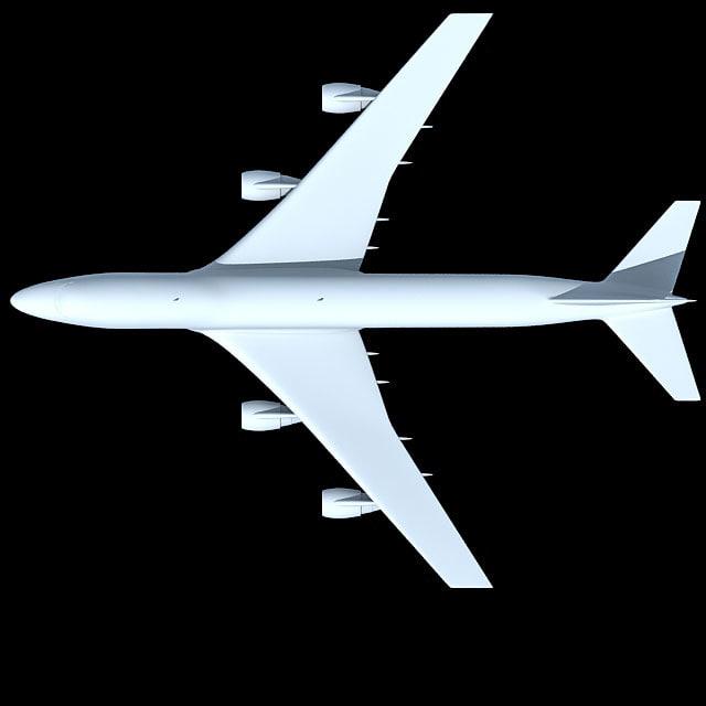 3d model of airbus b 747