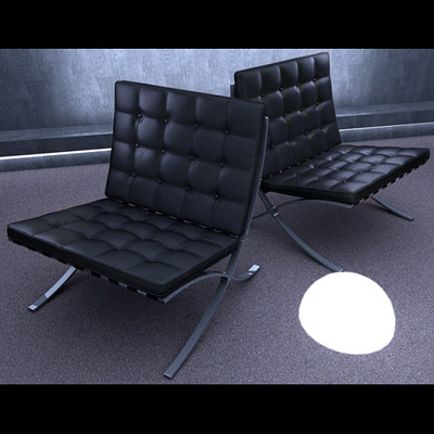 mr barcelona chair 3d model
