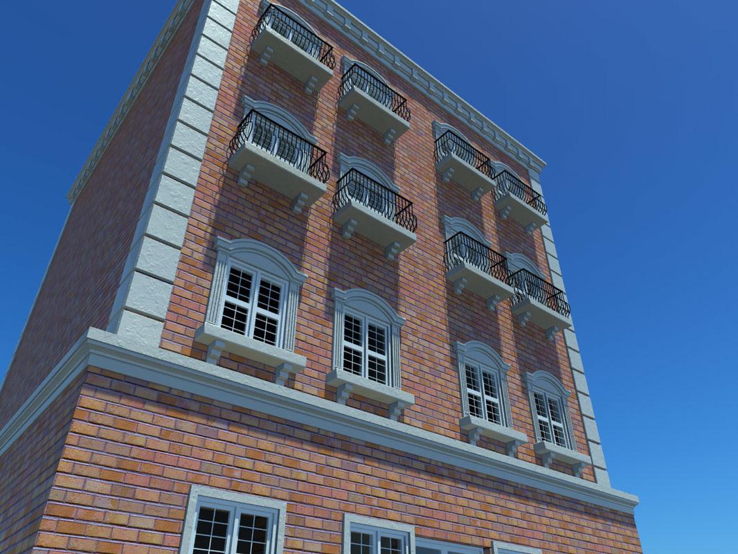 3d rise city building