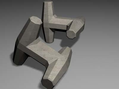 dolos concrete block 3ds