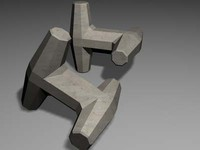 dolos concrete block 3ds