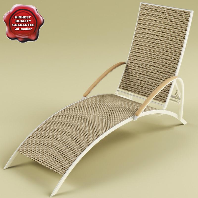3d deck-chair v2 model