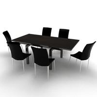 Rivington Dining Set - High Quality Furniture 3d model