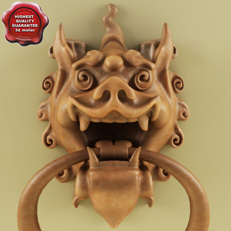 3d model door knocker