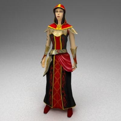 3dsmax female sorcerer
