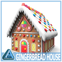 3d model of ginger bread house