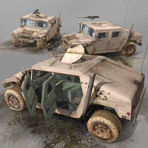 3d model humvee wrecks