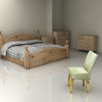 3d model harvest furniture bedroom set