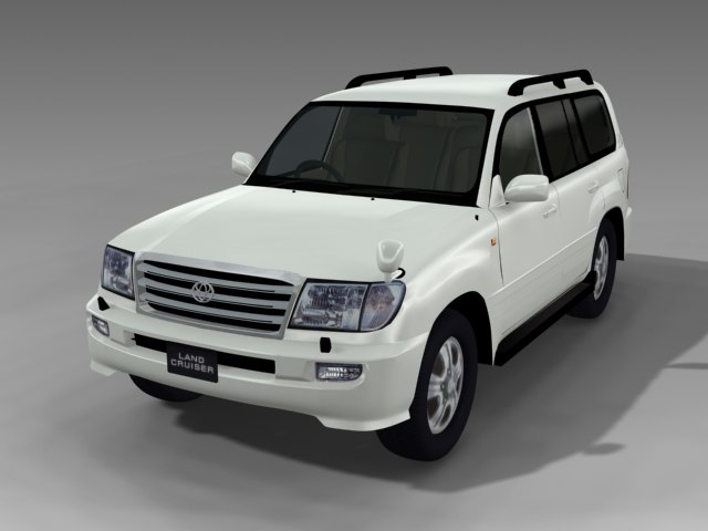 3d toyota land cruiser 100 model
