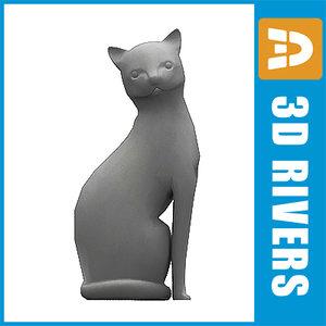 3d max polygonal cat