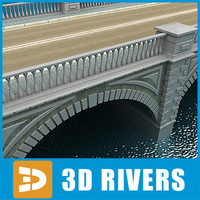 arched stone bridge 3ds