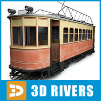 3d model tram tramways